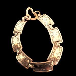 Copper Southwestern Thunderbird Link Bracelet